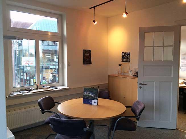 Büroräume der SG-Bau Immobilienvertriebs GmbH aus Buxtehude